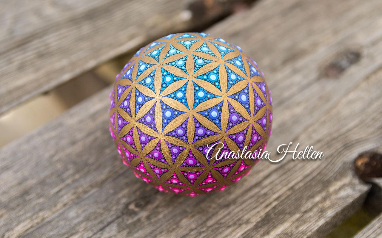 Mandala stone, hand painted - made to order