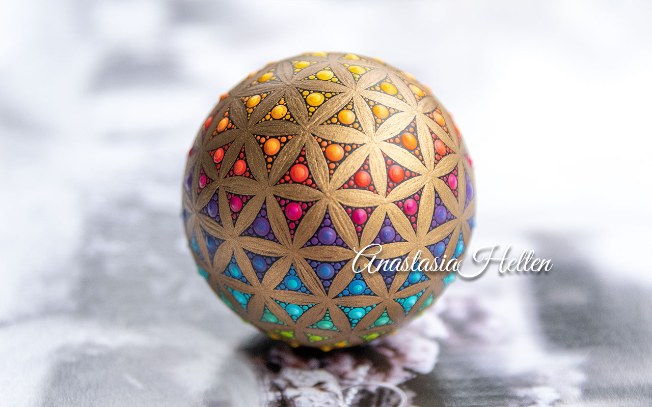 Mandala stone, hand painted - made to order
